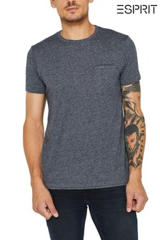 Esprit Navy T-Shirt With Chest Pocket