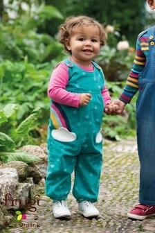 Frugi Organic燈芯絨彩虹貼花吊帶褲
