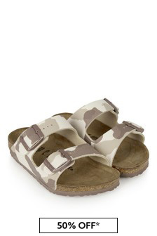 Birkenstock Boys  Beige Arizona Sandals