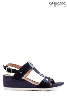 Geox Women's Ischia Blue Sandals
