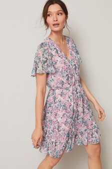 Printed Short Dress