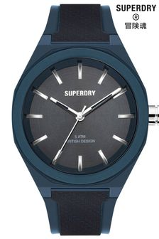 Superdry Navy SIlicone Watch