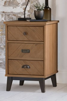 Hoxton Chevron 3 Drawer Bedside Table