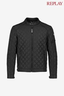 Replay® Black Biker Jacket