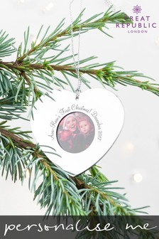 Personalised Photo Frame Tree Decoration by Treat Republic