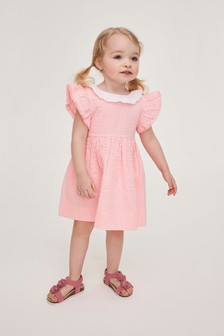 Lace Collar Stripe Dress (3mths-7yrs)