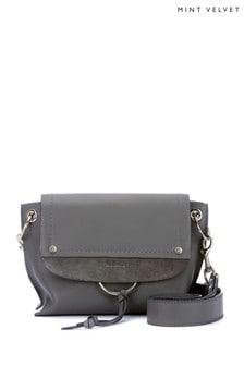 Mint Velvet Grey Marnie Leather Cross-Body Bag