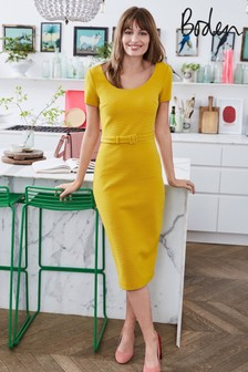 Boden Yellow Tilly Ottoman Dress