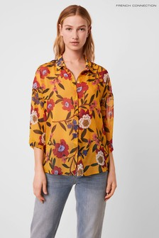 French Connection Eloise Crinkle Short Sleeve Shirt
