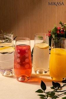 Súprava 4 pohárov na šampanské bez stopky Mikasa Cheers