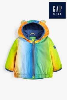 Gap Baby Orange Rainbow Ombre Windbreaker Jacket