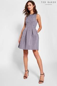 Ted Baker Milliea Grey Pearl Dress