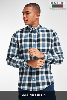 Buffalo Check Brushed Flannel Long Sleeve Shirt
