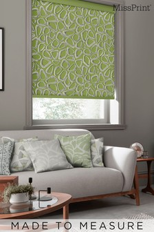 Pebbles Cricket Green Made To Measure Roller Blind by MissPrint