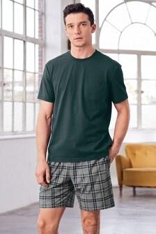 Cosy Check Short Pyjama Set