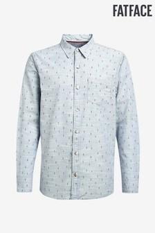 FatFace Tall Blue Beesands Print Shirt