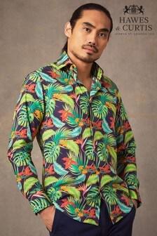 Hawes & Curtis Blue Hawaiian Tropics Shirt