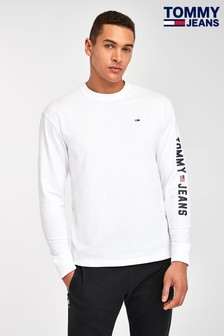 Tommy Jeans White Flag Long Sleeve T-Shirt