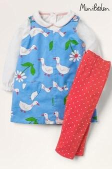 Mini Boden Blue 3 Piece Outfit Set
