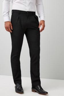 Spodnie z zakładką z przodu