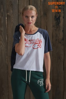 Superdry 70s Raglan Crop T-Shirt