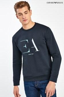 Emporio Armani Navy Oversized Logo Sweatshirt