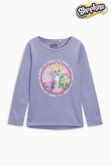 Shopkins Long Sleeve Flippy Sequin T-Shirt (3-16yrs)