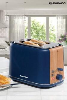 Daewoo Stockholm Wooden Trim 2 Slot Toaster