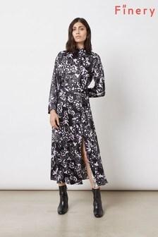Finery London Black Lyndon Dress