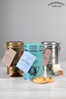 Milk Chocolate Biscuits Tea And Coffee Trio by Cartwright & Butler