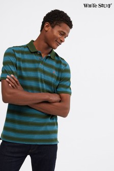 White Stuff Green Lewes Stripe Fairtrade Polo