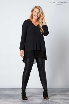 Live Unlimited Black PU Trousers