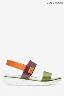 Cole Haan Brown Zerogrand Global Double Band Slip-On Sandals
