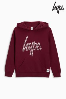 Sweat à capuche Hype. bordeaux