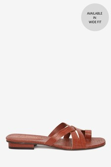 Signature Toe Loop Mules