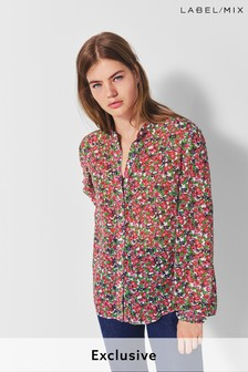 Next/Mix Floral Print Shirt