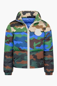 Moncler Enfant Boys Camouflage Down Padded Marchaud Jacket