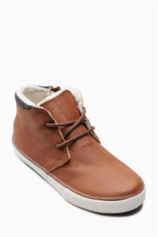 Borg Lined Chukka Boots (Older)