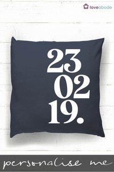 Personalised Special Date Cushion by Loveabode