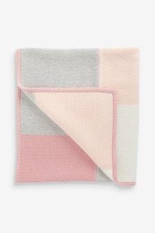 Patchwork Knitted Blanket (Newborn)