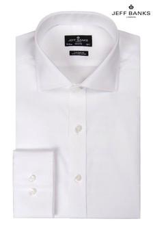 Jeff Banks White Cutaway Collar Single Cuff Tailored Shirt
