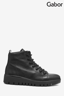 Gabor Black Nirvana Foot Fit Leather Ankle Boots