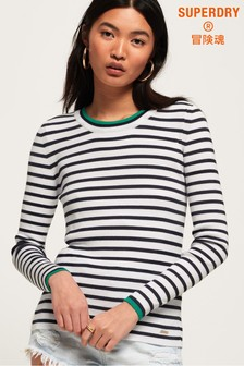 Superdry Kasey Tipped Ribbed Crew Jumper