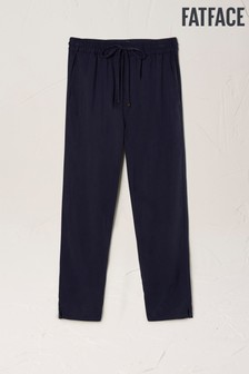 FatFace Blue Perth TENCEL™ Tapered Trousers
