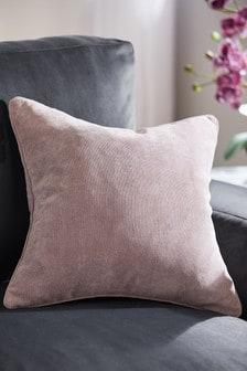 Мягкая велюровая квадратная подушка