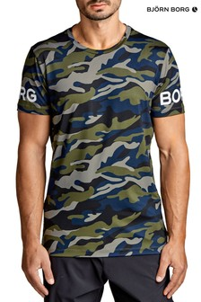 Bjorn Borg T-Shirt In Camo Print With Logo