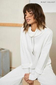 Mint Velvet Cream Ribbed Sweatshirt