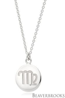 Beaverbrooks Silver Virgo Disc Necklace