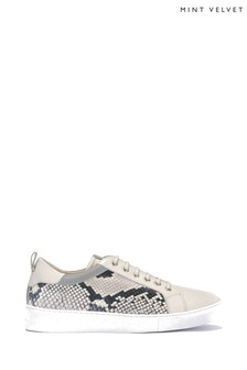 Mint Velvet Allie Stone Snake Trainers