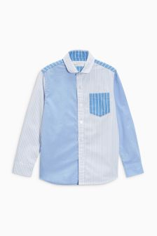Long Sleeve Spliced Stripe Shirt (3-16yrs)